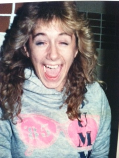 I'm 17 here.  I know because my sweatshirt says 1985.  My favorite sweatshirt that I got at NJ and some chick stole from my gym locker.  I cried.