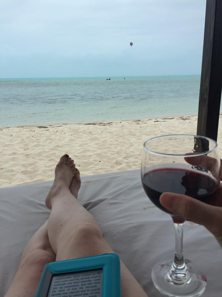 The obligatory vacation photo with feet