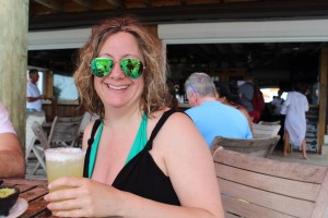 Sucking it up, putting on a brave face, and drinking a margarita dammit!